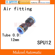 Quick connector SPU-12,12mm direct way pipe joint plastic socket pneumatic  hose components,air fitting
