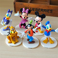 7-9cm 6pcs/lot Anime Mickey Minnie Mouse PVC Action Figure Toys, Mickey Mouse Kids Toy, Anime Brinquedos, Christmas Gifts Dolls