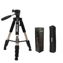 Cheaper ZOMEI Q111 Professional Portable Travel Aluminum Camera Tripod&Pan Head For SLR DSLR Digital Camera 6 color