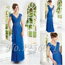 2016 Sexy Lace Evening Dresses Sleeveless V-Neck Sleeve Chiffon Mother Of The Bride Dresses