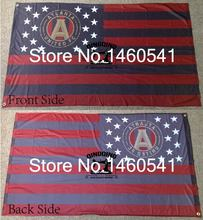Atlanta United FC Nation Flag 3ft x 5ft Polyester MLS Atlanta United FC Banner Flying Size No.4 144* 96cm QingQing Flag