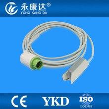 Biolight M7000 M9500 SpO2 Sensor De dedo adulto sensor de clipe de spo2, usado para conectar o monitor diretamente