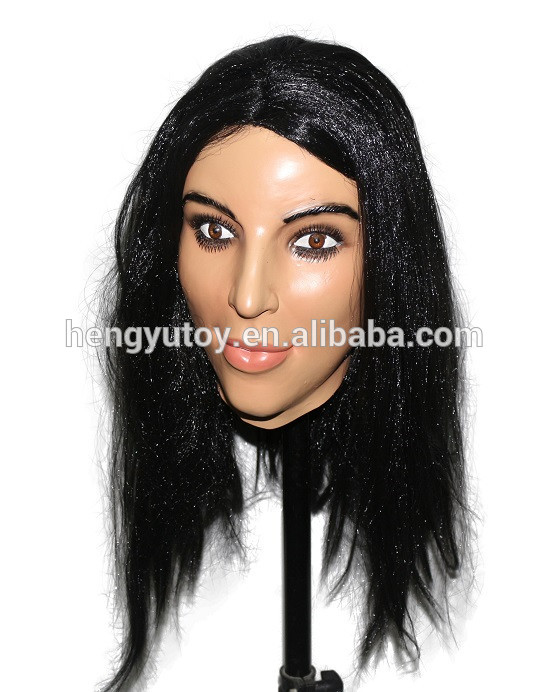 Realistic Belle Face Carnival Female Sex Mask for Cosplay Masquerade
