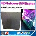 0.96 x 0.96 m p10 impermeável ao ar livre parede display led 35353SMD alto brilho outdoor led p10 tela