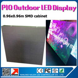 TEEHO 0.96x0.96m p10 outdoor waterproof led display wall 35353SMD high brightness outdoor led screen p10 videowall LED signboard