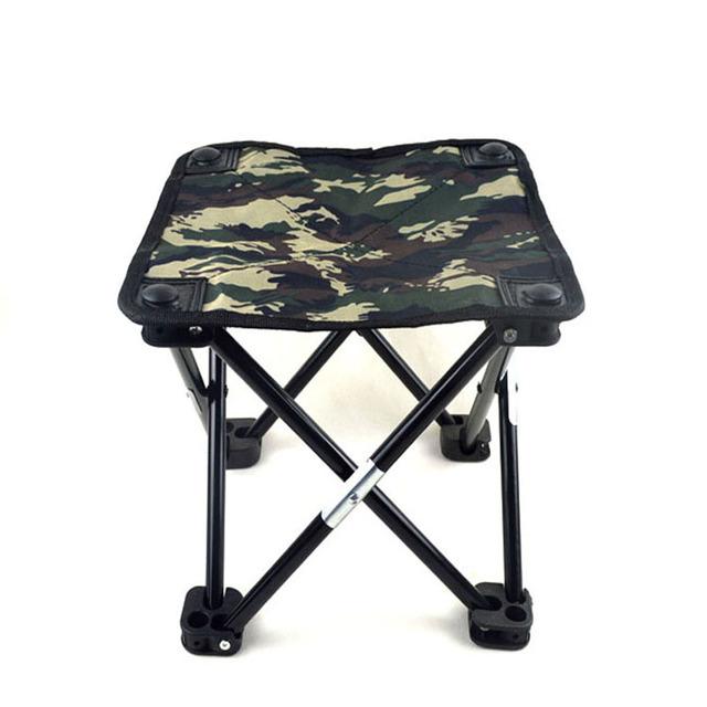 Novo 2016 Camuflagem Portátil Pequena Cadeira de Pesca Banquinho Dobrável Mini Camping Pesca Cadeira Grande Tamanho 29X29X30 CM