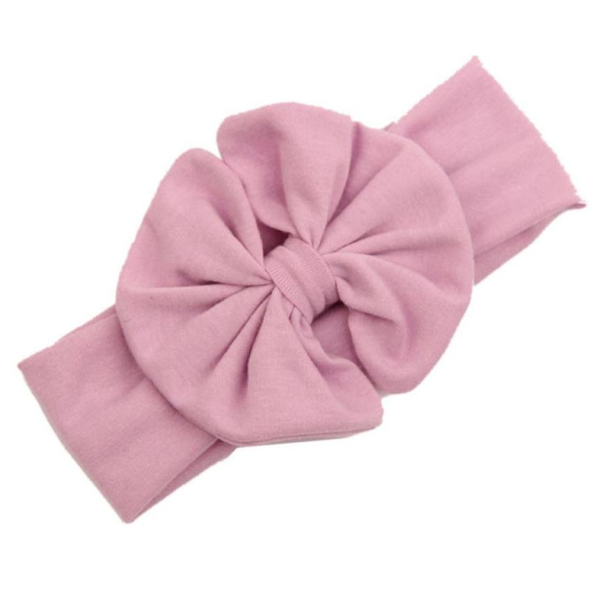 hair accessories pure cotton cloth big bowknot baby girls cotton headband tiara diademas bebes ninas