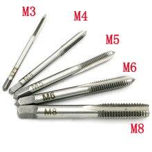 5 шт./компл. HSS M3 M4 M5 M6 M8 машина Спиральная точка прямой рифленый винт Резьба Метрическая вилка ручной кран дрель