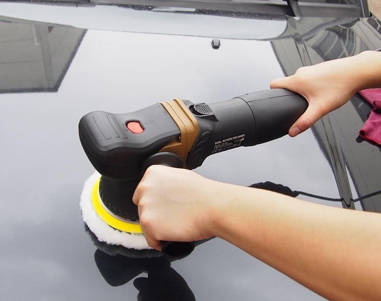 Dual Action 800W 1800-7000rpm 125mm Pad Car Polishing Machine Car Polisher Machine Tools biaobang car polishing wax w sponge pad 200g