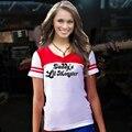 Venda quente do Papai Lil Monstro T-shirt de Manga Curta Pouco Inspirado Camisa Cosplay Traje Harley Quinn