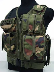 Woodland Mesh Tactical Vest Airsoft CQB vest with accessories Tactical vest CP Black CB OD ACU Woodland digital