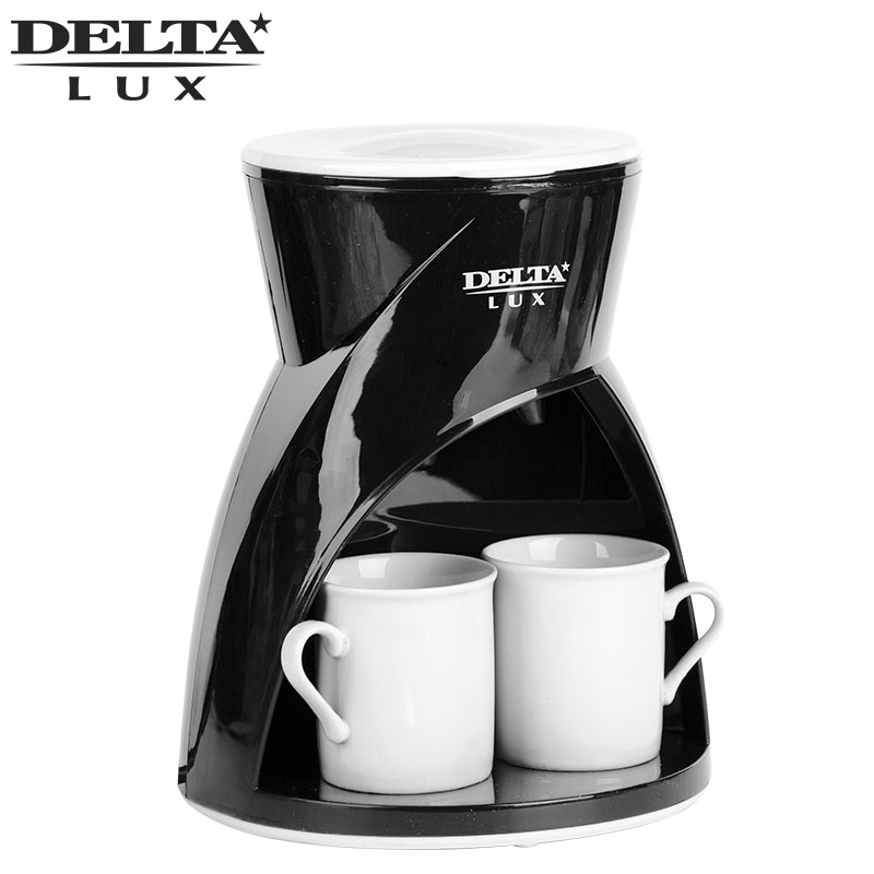 DL-8131 black Coffee maker machine drip, cafe household american plastic material, full automatic, work indicator, ceramic cup