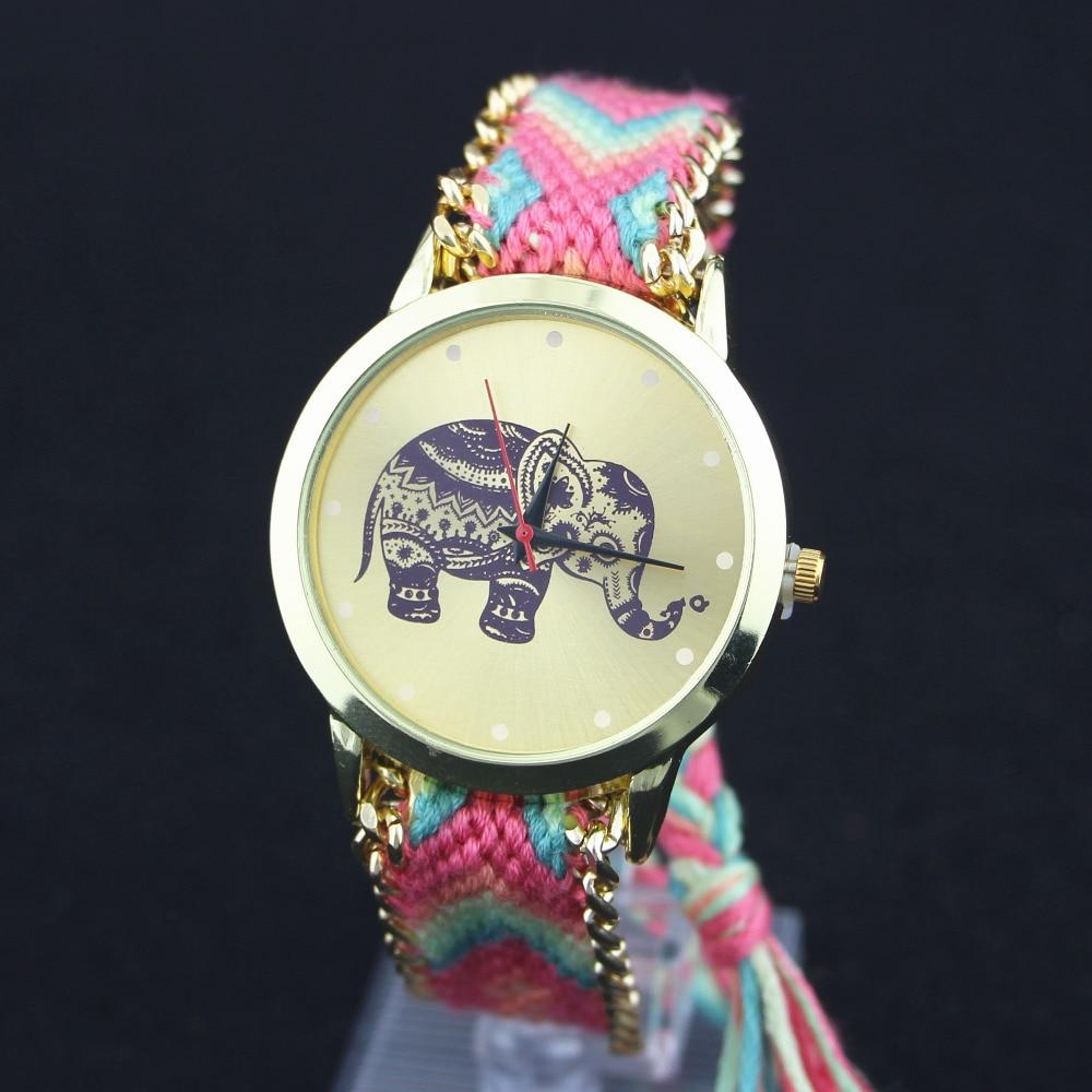 Woman National Wind Weave Diy Little Monkey Bracelet Watch 3# Latest Fashion Men's Watches Quartz Watches