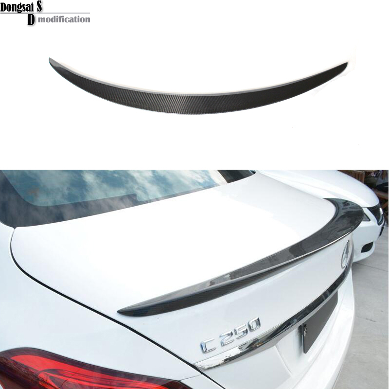 2015+ Mercedes C class W205 spoiler wings carbon fiber rear trunk spoiler for Benz 2015+ c180 c200 c220 c250 c300 c350 4-door
