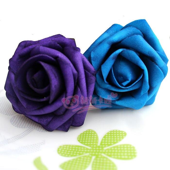 500 шт. X(6 см) один Пена розовыми цветами стволовых в 12 различных Цвета для выбора свадебные цветы.* по EMS