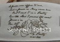 ленты швейные этикетки 10 м - первая любовь розы