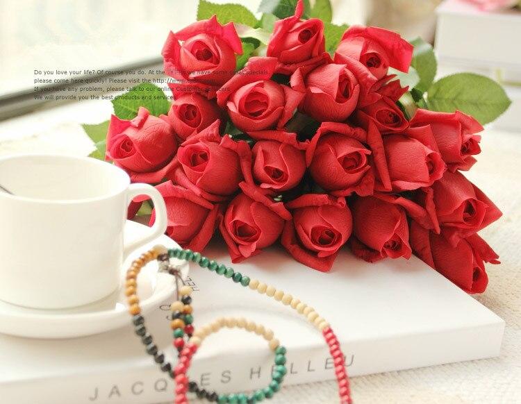 Hoa hồng giả HH-171: Mẫu A - Màu đỏ