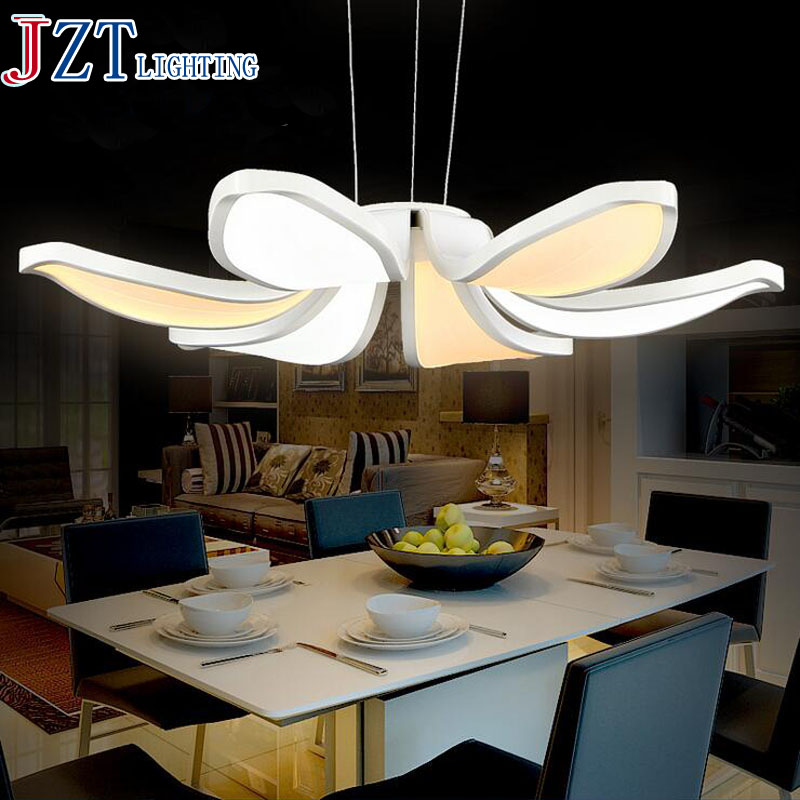 M Fashion Living Room Dining Room Foyer Lights Hanging Pendant Lamp Adjustable Light Acrylic Pendant Light Led Lamp Circle