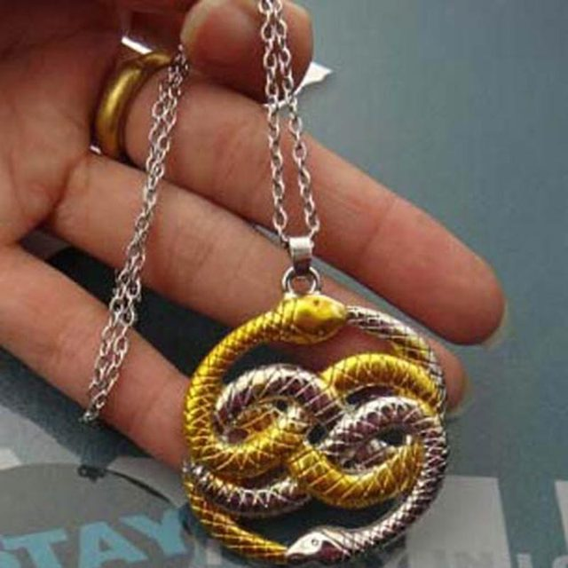Snake necklace new arrival double snake never ending story pendant snake necklace new arrival double snake never ending story pendant necklace 1509478 mozeypictures Choice Image