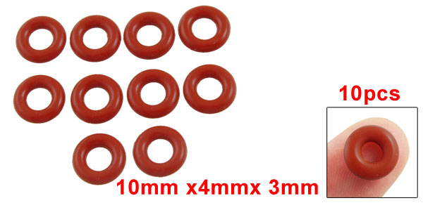 10mm OD 2mm Width 6mm Inner Diameter uxcell Silicone O-Rings Seal Gasket 30pcs