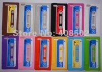 ретро итапе Альба кассету назад чехол для яблоко, iPhone 5 5 г ГЭ мягкая переехал Silicon 10 шт./ca5006 лот