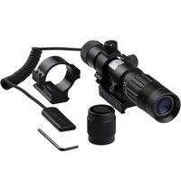 Free Shipping Flashlight Adjustable Laser Sight Tactical Hunting Green Illuminator Designator with Weaver Mount and Switch