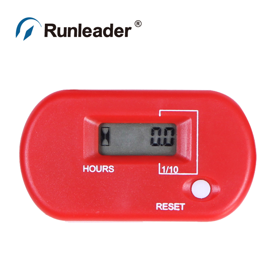 Runleader LCD Hour Meter For Gas Engine farm machine chainsaw mower Tractor motorcycle boat jet ski outboard