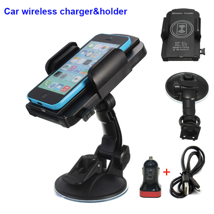 car phone qi wireless charger dock stand holder mount for. Black Bedroom Furniture Sets. Home Design Ideas