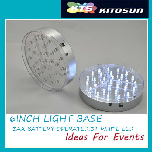 6inch white color led lights base