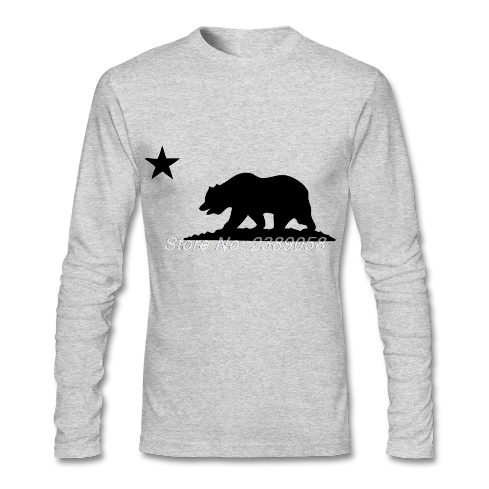 Hot sale men 39 s t shirt fashion print california bear funny for Mens long sleeve t shirts sale