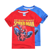 2016 Cartoon Kids Boys Clothes Spiderman spider man T Shirt Tops short Sleeve o neck Cotton Tshirt High Quality
