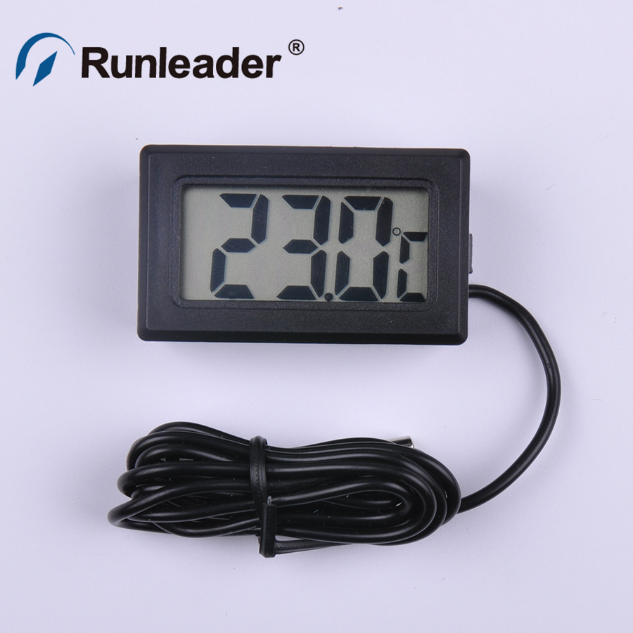 Runleader TM102 LED Display Digital Temperature Meter Gauge Thermometer -50 to 110 Celsius Degree for motorcycle Hot selling