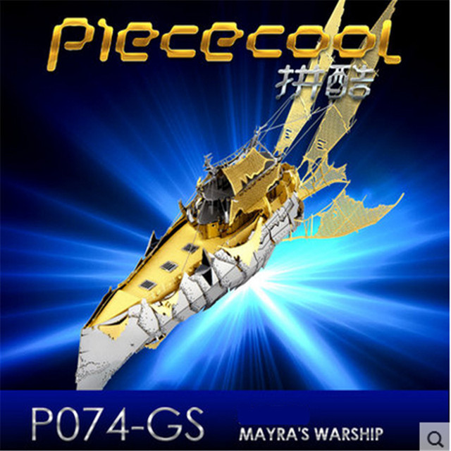 ICONX 2017 Piececool 3D Metal Puzzle Toy / Brinquedos, P074-GS Mayra's Warship Building Kits DIY 3D Puzzle Jigsaw Toys For Audlt