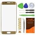 Переднее Стекло Объектива Сенсорный Экран Ремонт Для Samsung Galaxy S6 Edge G9250 Стекло Заменить Комплекты Клей Золото/Темно-Синий/Зеленый/белый