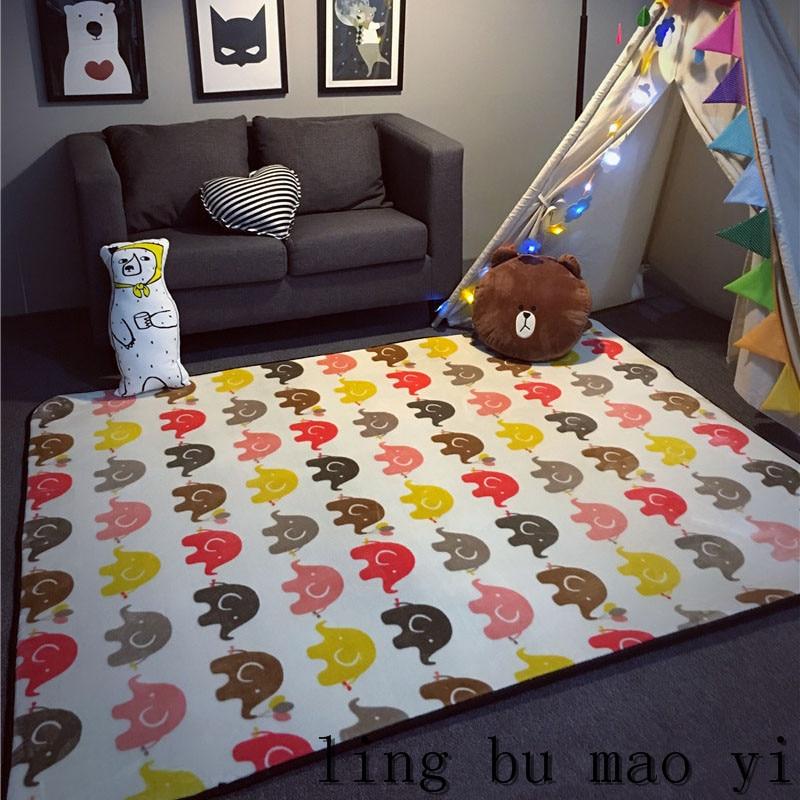 Baby Krult Rug: 2016 Hot Kids Game Mat Elephant Pattern Baby Crawling Pad