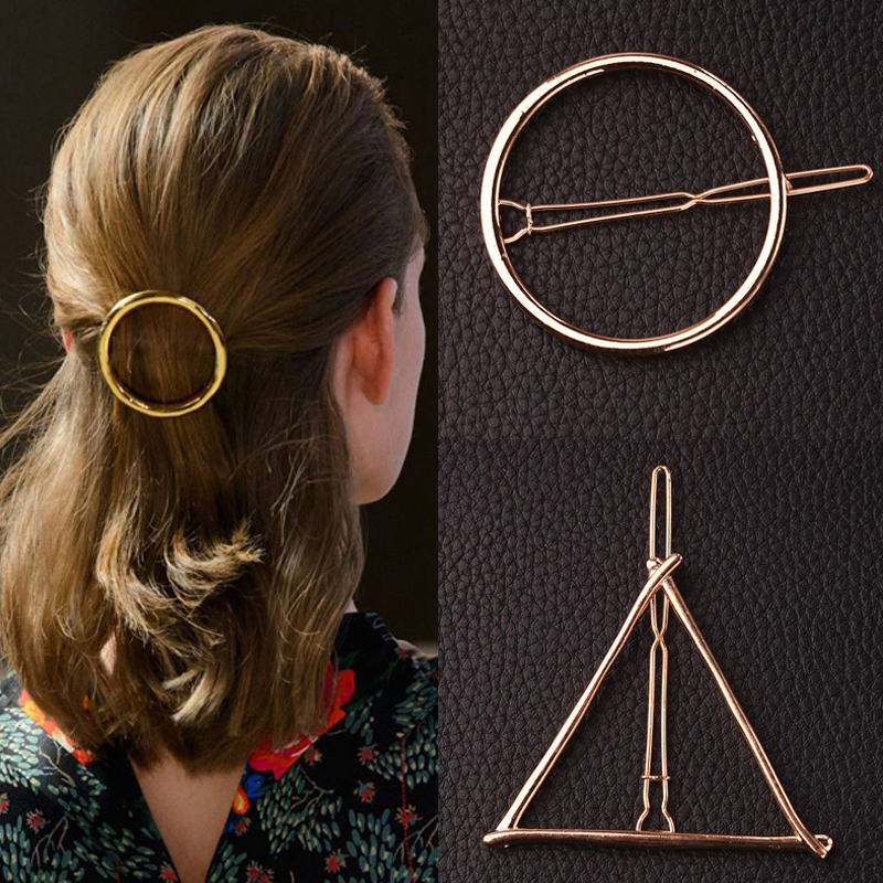 Europe and America Geometric Pattern Metal Clip Hairpin Head Ornaments Hair Accessories