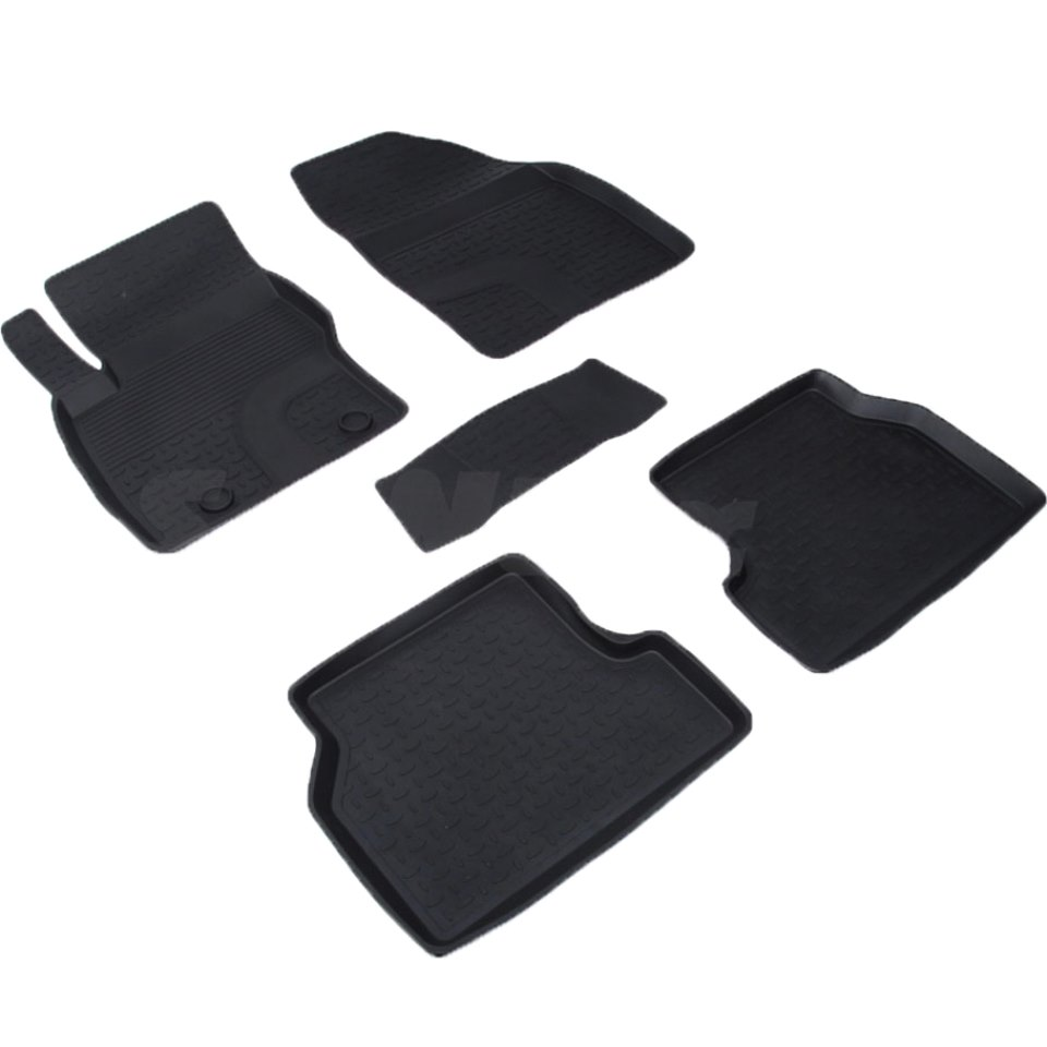 лучшая цена For Ford Focus 2004-2010 rubber floor mats into saloon 5 pcs/set Seintex 01222
