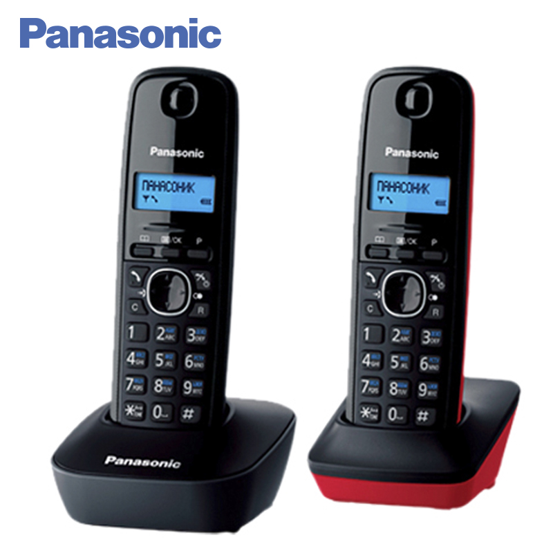 Panasonic KX-TG1612RU3 DECT phone, 2 Handset, digital cordless telephone, wireless phone System Home Telephone. panasonic kx tg2512rus dect phone additional handset included eco mode time date display communication between handsets