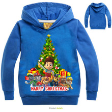 2016 Christmas children Christmas tree&dogs Hoodies Kids Clothes Cotton boys&girls Pullovers Christmas Party Costume for 3-11yr