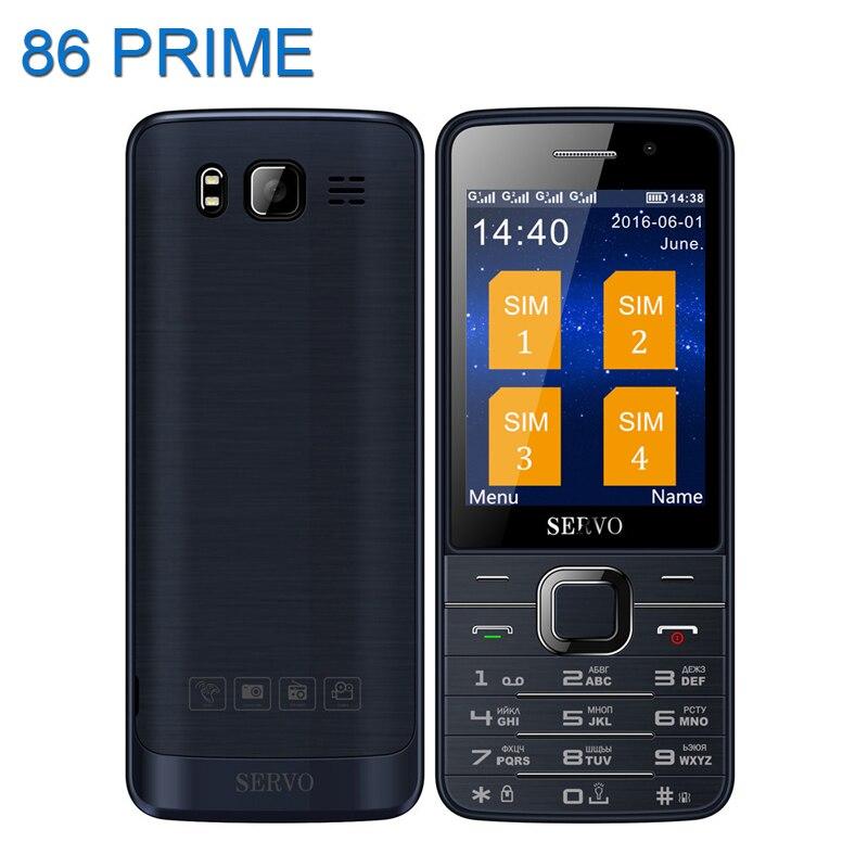 Original Servo V9500 Quad SIM Cards 2 8 inch HD Mobile Phone GPRS Bluetooth vibration MP4
