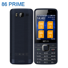 Original Servo V9500 Quad SIM Cards 2.8 inch HD Mobile Phone GPRS Bluetooth vibration MP4 Russian keyboard phone