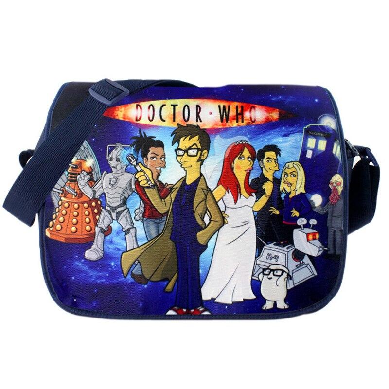 Polyester shoulder bag printed with cartoon figures of Doctor Who New Messenger Bag