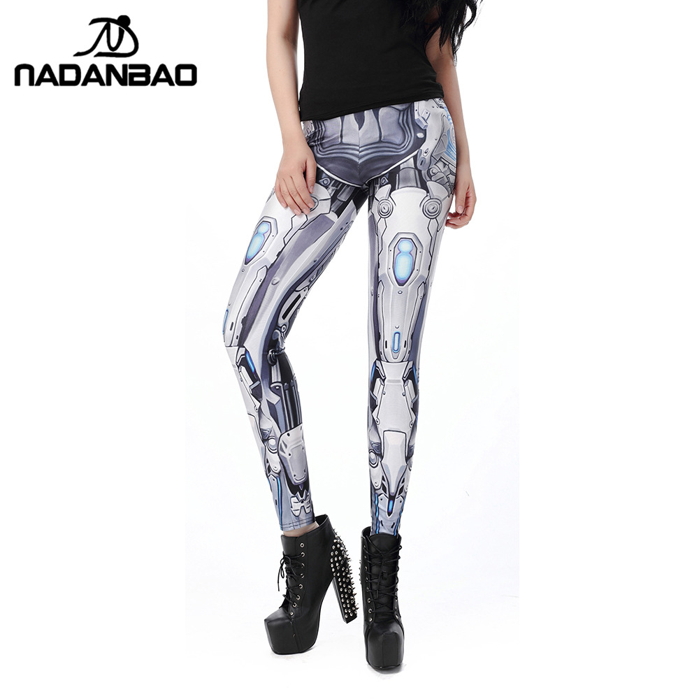 NADANBAO MECHA CosPlay Women   Leggings   ROBOT Comic Cartoon Printed leggins Woman leggins women pant