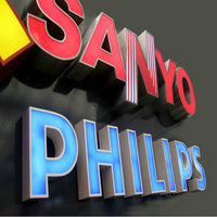 Outdoor Advertising Acrylic Signs With Stainless Steel Frame 3D Letters Customized Free Shipping