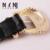A nova garota preto duplo pin fivela de cinto de lazer moda retro decoração escultura cinto das calças de brim Y010