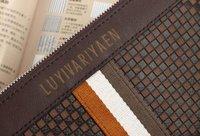 новый свободного покроя из натуральной кожи мужская бизнес-сумки сумки, черный / коричневый # бесплатная доставка
