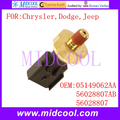 Nuevo Auto Interruptor Del Sensor de Presión de Aceite Del Motor uso OE No. ACEITE 05149062AA, 56028807AB 56028807 para Chrysler Dodge Jeep