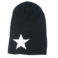 FancyQube Большая Звезда Шляпы Теплый Моды Вязание Колпачок Для Женщины Мужчины Шапочка Skullies