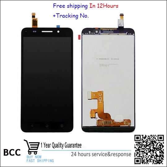 Best quality!White,Black or golden  LCD Display +Touch Screen Digitizer Assembly For Huawei honor 4x with  free shipping TEST OK lcd screen display touch panel digitizer with frame for htc one m9 black or silver or gold free shipping