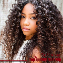 Cheap Sale Brazilian Kinky Curly Wig Black Wig Glueless Synthetic Lace Front Wigs Heat Resistant For Black Women Free Shipping